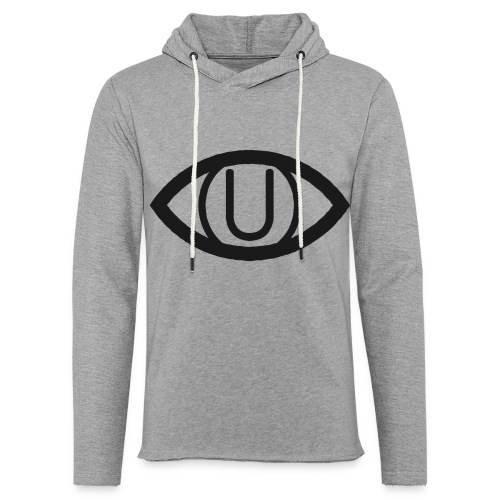 EYE SYMBOL BLACK - Light Unisex Sweatshirt Hoodie
