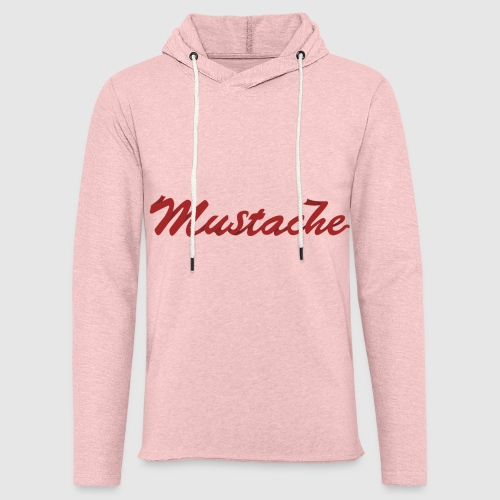 Red Mustache Lettering - Light Unisex Sweatshirt Hoodie
