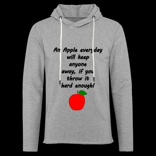 Apple Apfel Doctor Zitat Spruch Lustig - Leichtes Kapuzensweatshirt Unisex