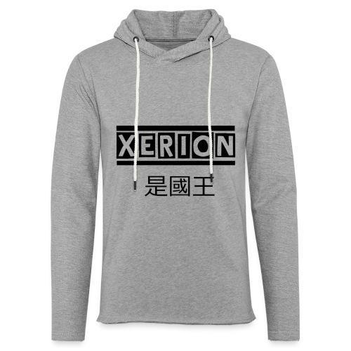 XERION [BLACK] - Leichtes Kapuzensweatshirt Unisex