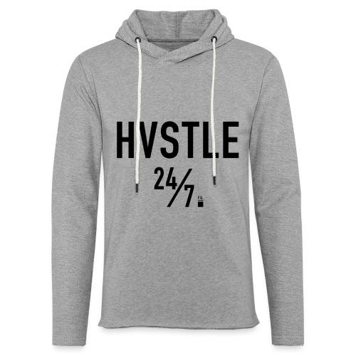 HVSTLE 24/7 Hoodie - Black Font - Leichtes Kapuzensweatshirt Unisex