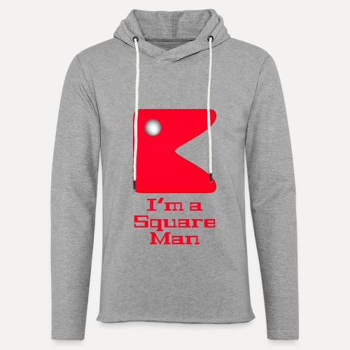 Square man red - Light Unisex Sweatshirt Hoodie