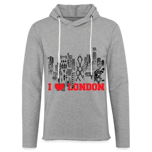 I LOVE LONDON SKYCRAPERS - Sudadera ligera unisex con capucha