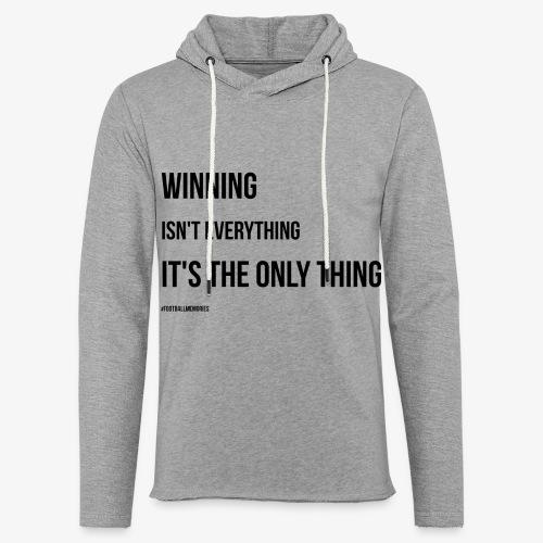 Football Victory Quotation - Light Unisex Sweatshirt Hoodie