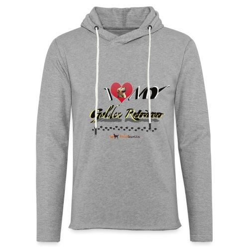 I Love my Golden Retriever - Felpa con cappuccio leggera unisex