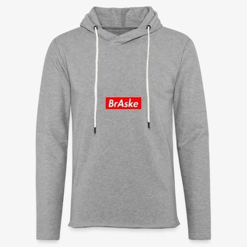 BrAske Red - Let sweatshirt med hætte, unisex