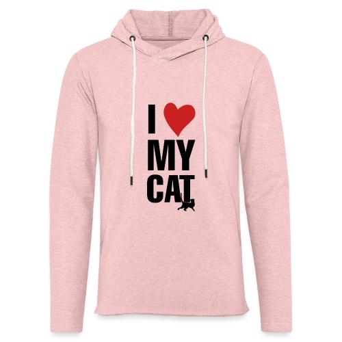 I_LOVE_MY_CAT-png - Sudadera ligera unisex con capucha
