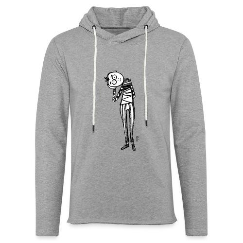Point de vue en noir et blanc - Felpa con cappuccio leggera unisex
