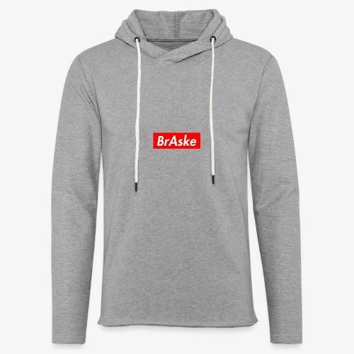 BrAske Grey - Let sweatshirt med hætte, unisex