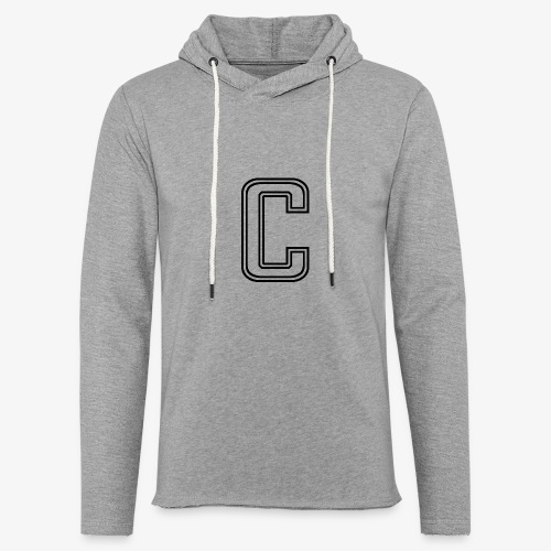 thiccc C logo WHITE - Light Unisex Sweatshirt Hoodie