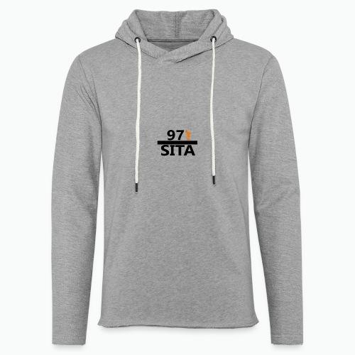 Sweat manche longue 97-Sita - Sweat-shirt à capuche léger unisexe