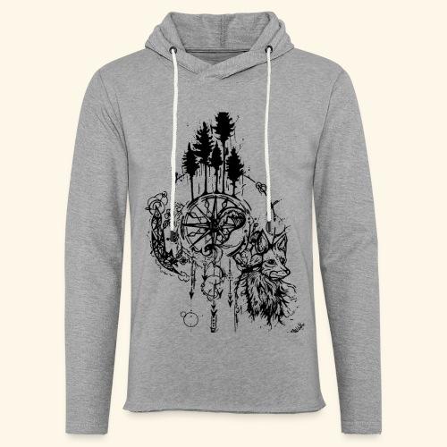 renard nature - Sweat-shirt à capuche léger unisexe