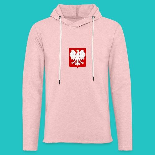 Koszulka z godłem Polski - Lekka bluza z kapturem