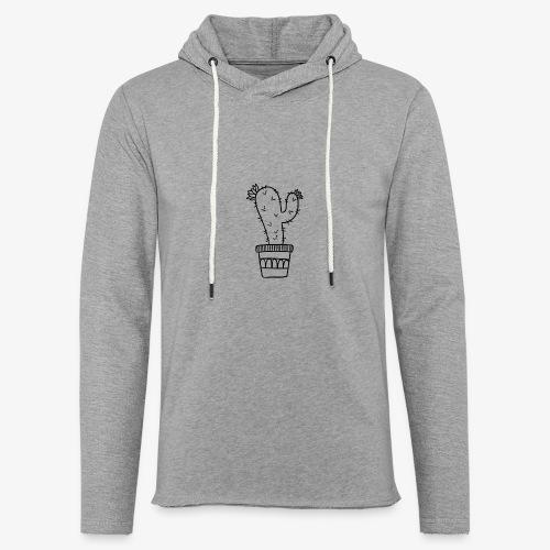 Cactus fleuri - Sweat-shirt à capuche léger unisexe