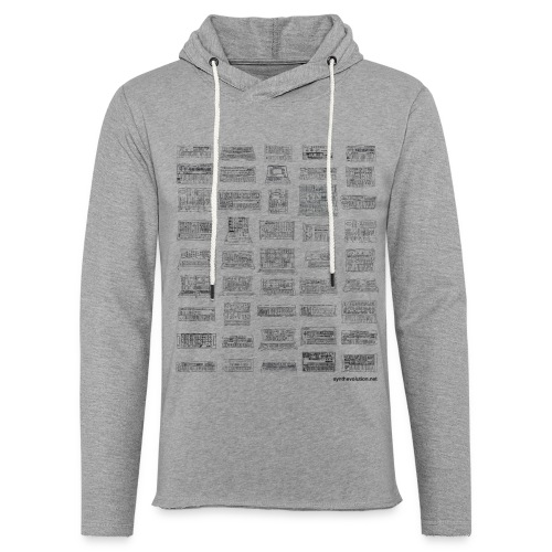 Synth Evolution T-shirt - White - Light Unisex Sweatshirt Hoodie