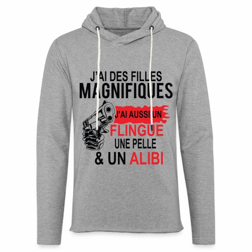 J'AI DEUX FILLES MAGNIFIQUES Best t-shirts 25% - Sweat-shirt à capuche léger unisexe