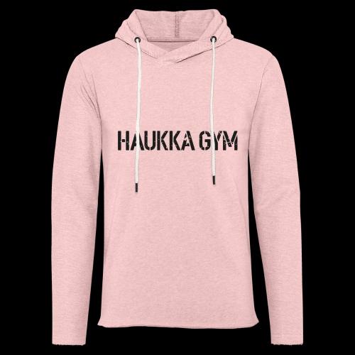 HAUKKA GYM roso text - Kevyt unisex-huppari