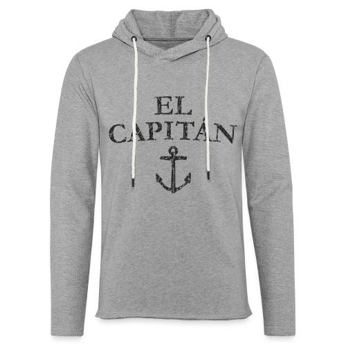 El Capitan Anker (Vintage Schwarz) Kapitän Käpt'n - Leichtes Kapuzensweatshirt Unisex