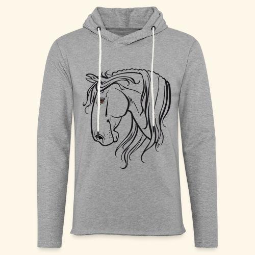 Cheval espagnol (noir) - Sweat-shirt à capuche léger unisexe
