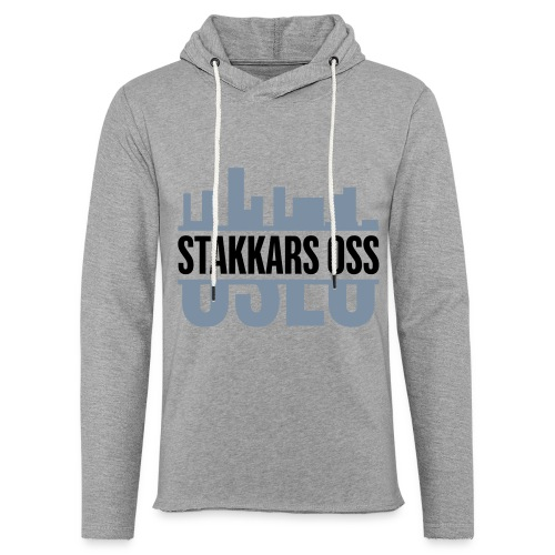 stakkars oss logo 2 ny - Lett unisex hette-sweatshirt