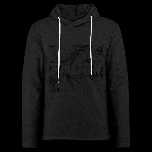Hoehenlinien schwarz Schatten - Leichtes Kapuzensweatshirt Unisex