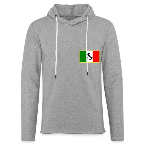 Bandiera Italiana2 - Felpa con cappuccio leggera unisex