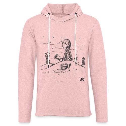 ligne de base arctique croquis - Sweat-shirt à capuche léger unisexe