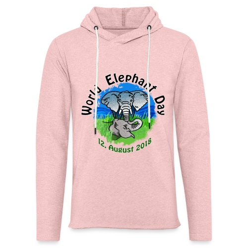 World Elephant Day 2018 - Leichtes Kapuzensweatshirt Unisex