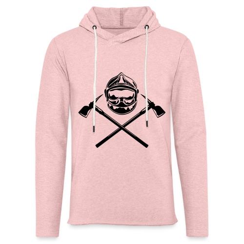 casque_pompier_deux haches - Sweat-shirt à capuche léger unisexe