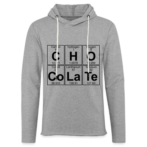 C-H-O-Co-La-Te (chocolate) - Full - Light Unisex Sweatshirt Hoodie