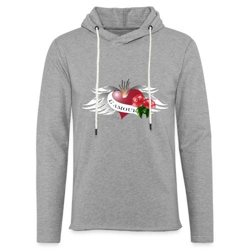 L' Amour - Die Liebe - Leichtes Kapuzensweatshirt Unisex