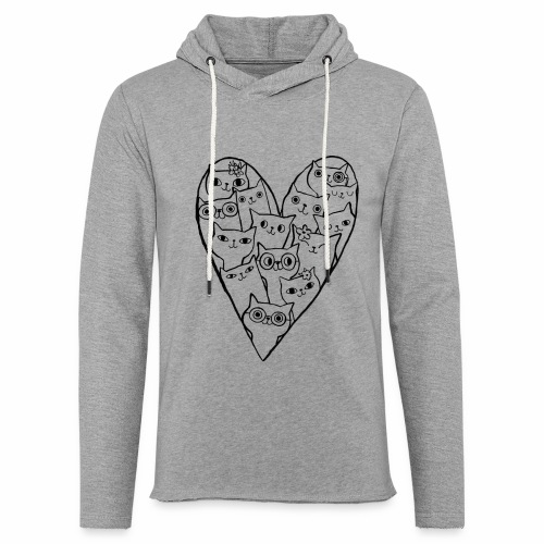 I Love Cats - Light Unisex Sweatshirt Hoodie