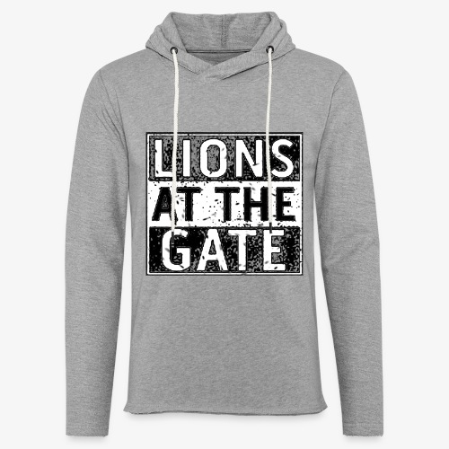 LIONS AT THE GATE BAND LOGO - Lichte hoodie unisex