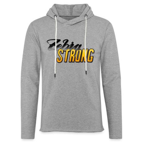 Zebra Strong - Leichtes Kapuzensweatshirt Unisex