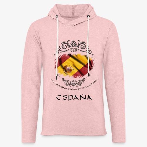 Spain Vintage Flag - Leichtes Kapuzensweatshirt Unisex