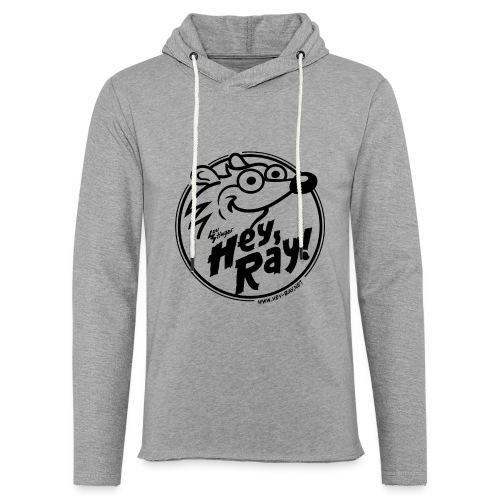 Hey Ray Logo black - Leichtes Kapuzensweatshirt Unisex