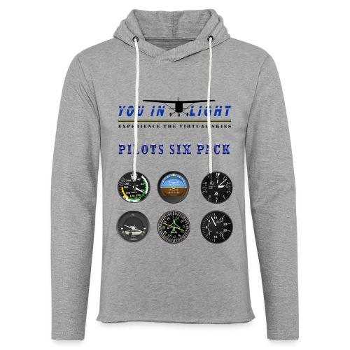 Pilots six pack shirts - Let sweatshirt med hætte, unisex