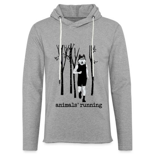 Loup running - Sweat-shirt à capuche léger unisexe