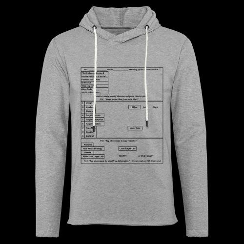 9-Line schwarz - Leichtes Kapuzensweatshirt Unisex