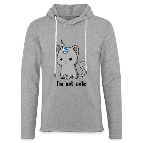 Ich bin nicht süß Einhorn Katze - Leichtes Kapuzensweatshirt Unisex