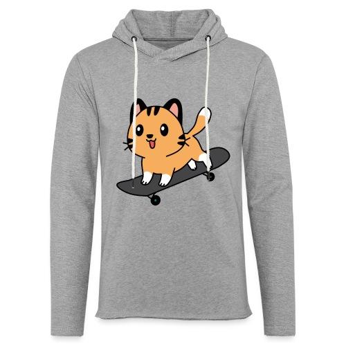 Skater Katze Miau - Leichtes Kapuzensweatshirt Unisex