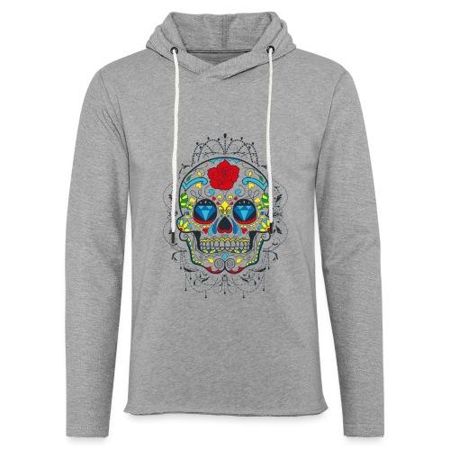 Rose und Diamantschädel - Leichtes Kapuzensweatshirt Unisex