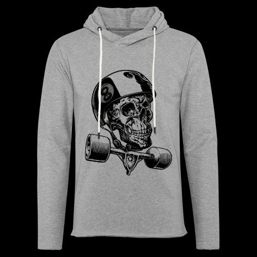 Skull Longboard Rider - positive print - Sweat-shirt à capuche léger unisexe