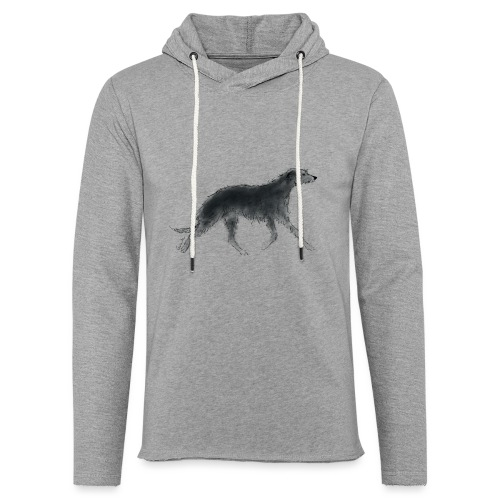 Deerhound in Aquarell - Leichtes Kapuzensweatshirt Unisex