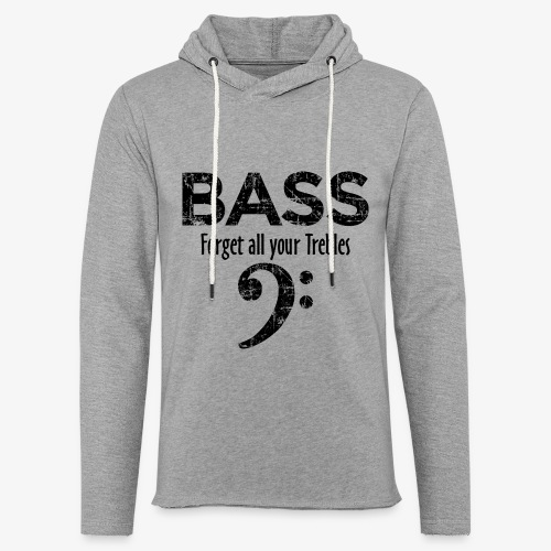 BASS Forget all your trebles (Vintage Schwarz) - Leichtes Kapuzensweatshirt Unisex