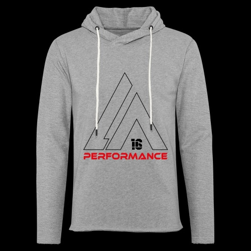 LA Performamce black/red - Leichtes Kapuzensweatshirt Unisex