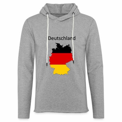 Deutschland Karte - Leichtes Kapuzensweatshirt Unisex