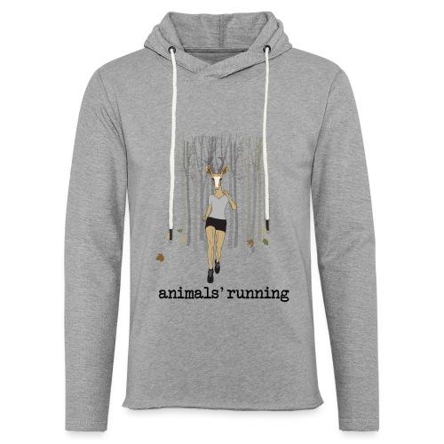 Antilope running - Sweat-shirt à capuche léger unisexe