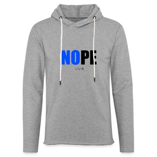 NOPE - Sweat-shirt à capuche léger unisexe