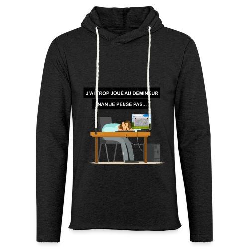 J'ai trop joué au démineur - Sweat-shirt à capuche léger unisexe